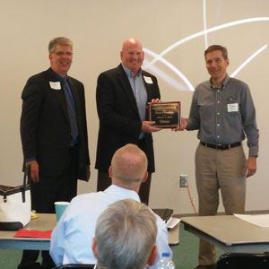 Mike Funke receives award