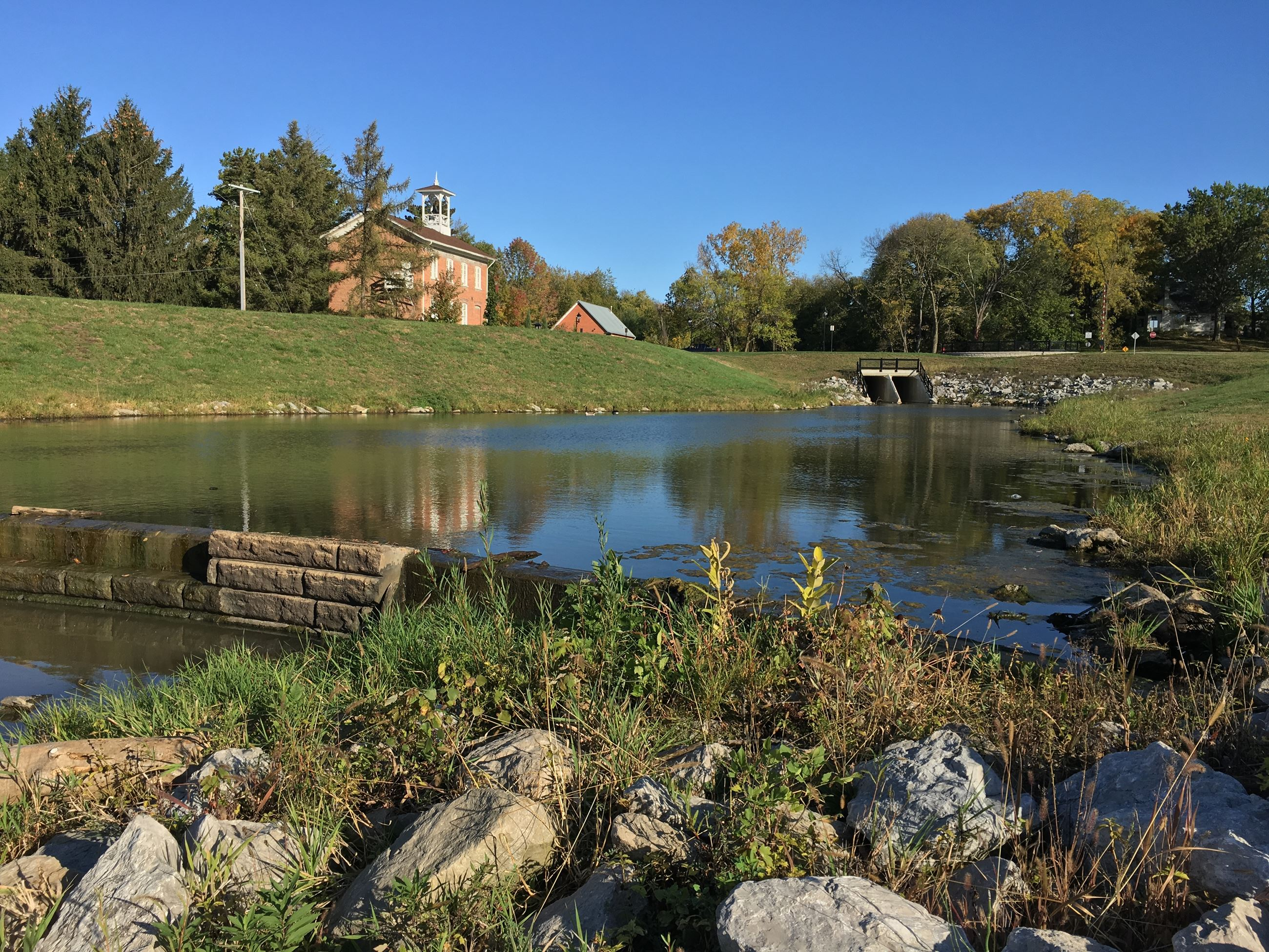 Stormwater retention ponds along Biscuit Creek