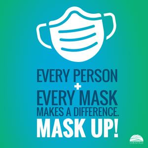 Every Person Every Mask Makes a Difference Mask Up